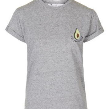 PETITE EXCLUSIVE Avocuddle Tee - Grey Marl