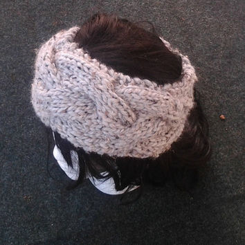 Hand Knit Headband - The Cable Headband - Handmade headband