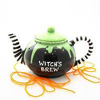 Halloween witch teapot , witch's brew