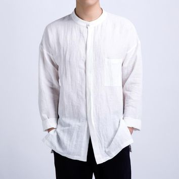 Premium Quality long-sleeved Linen Shirt