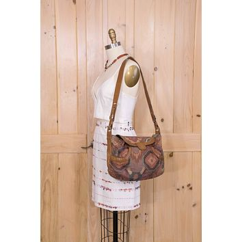 Leather Crossbody Bag Boho Hippie Vintage Tote Tapestry Purse