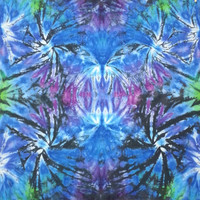 trippy tie dye tapestry or wall hanging blue green purple