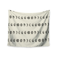 "KESS Original ""Phases Of The Moon"" Beige Gray Wall Tapestry"