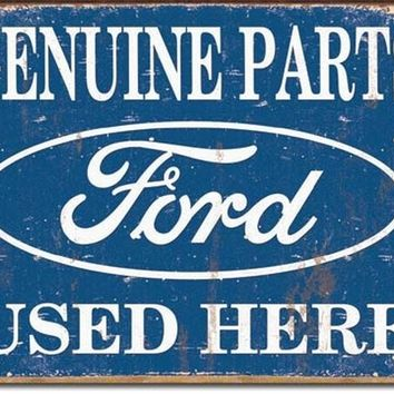 Tin Sign Ford Parts