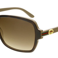 Gucci Dark Havana Rectangle Sunglasses