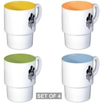 Wedding Favors Stackable Mug Set (4 mugs)> Las Damas Creations