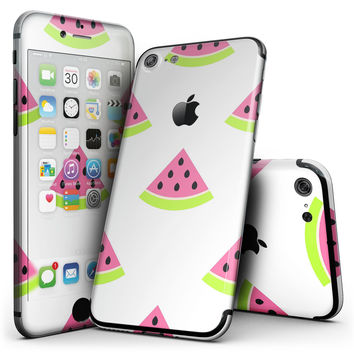 Animated Watermelon Pattern - 4-Piece Skin Kit for the iPhone 7 or 7 Plus