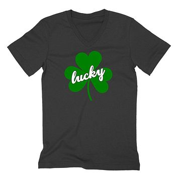 St Patricks Day, Lucky , Lucky charm, Irish girl, Irish day, funny shamrock, Irish yoga  V Neck T Shirt