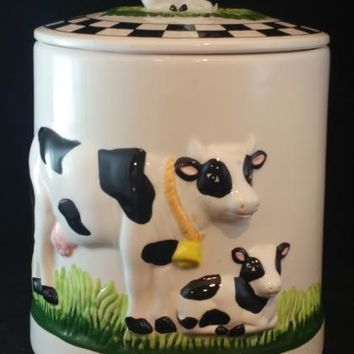 KMC Cow Ceramic Cookie Jar/Canister