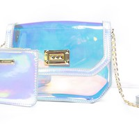 Iridescent Cross Body Clutch