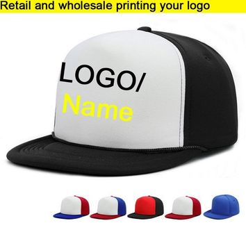 Trendy Winter Jacket Retail HIPHOP Adult Baseball Hat Cobra cap/BBoy Caps Flat brim Vinyl Printing Cap Hip Hops Snapbacks For Men Women Custom LOGO AT_92_12