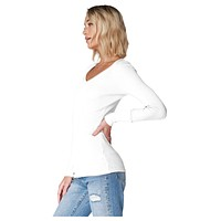 V-Neck Long Sleeve Bone