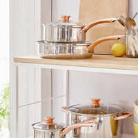 4-Piece Copper-Trimmed Cookware Set | Urban Outfitters