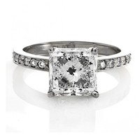 Bling Jewelry Sterling Silver 2.9 ct Princess Cut CZ Engagement Ring