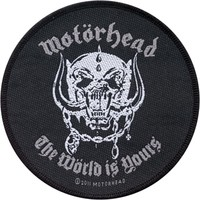 Motorhead Men's The World Is Yours Woven Patch Black