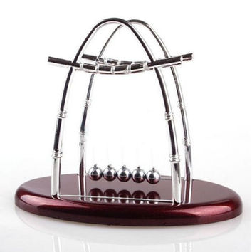 hot!Newton's Cradle Balance Ball Physics Science Fun Desk Toy Accessory
