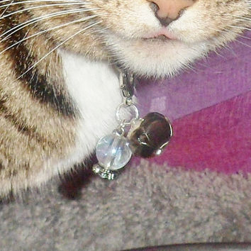 Crystal Ball Cat Collar Charm, Boho Chic Pet Jewelry, Zipper Pull Purse Accessories, Bojo Accessories Pet Lover Gifts, Dog Collar Charm