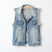 favthing — West Street Style Denim Vest