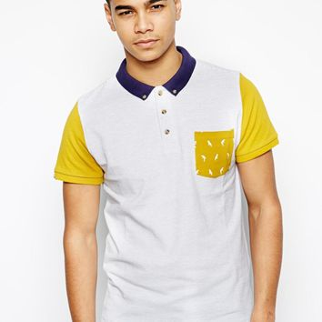 Bellfield Polo Shirt With Print Pocket