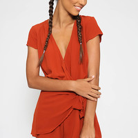 Feel It All Playsuit - Rust