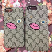 GUCCI Fashion Pattern Print iPhone Phone Cover Case For iphone 6 6s 6plus 6s-plus 7 7p