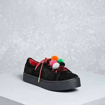 Shoe Republic Pom Pom Sneakers