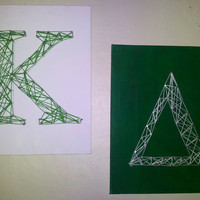 Delta Kappa Nail and String Art Letters Handmade Personalized Any College
