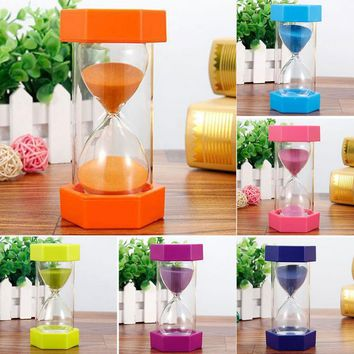 Sand Clock 5minutes /10minutes/15 minutes Hexagonal Household Hourglass Kid Gift Sand Clock Decorative Sand Timer