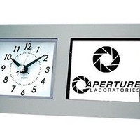 Portal 2 Aperture Laboratories Desk Table Clock
