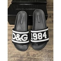 D&G Dolce & Gabbana Trendy Fashion High Quality Slippers F-ALS-XZ Black