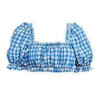 Blue Gingham Marcela Top