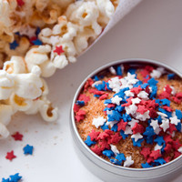 Gourmet popcorn seasonings for 4th of July cookout / BBQs! By dellcovespices