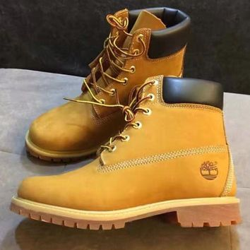 Timberland Fashion Winter Waterproof Boots Martin Leather Boots Shoes light brown H-AA
