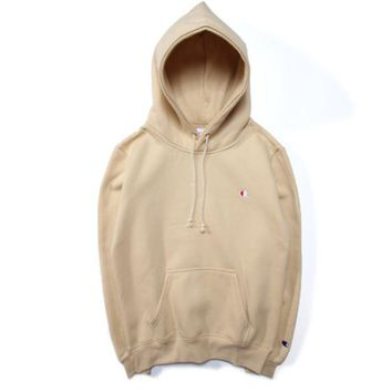 Simple embroidery sweater Champion fall / winter hooded hoodie Couples