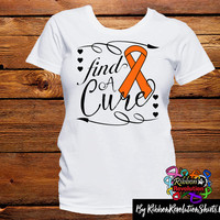Orange Ribbon Find A Cure Shirts (Kidney Cancer, Leukemia, Multiple Sclerosis, COPD, RSD and More)