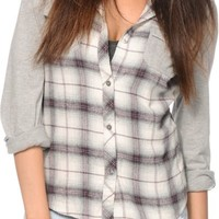 Empyre Exeter Purple Hooded Flannel