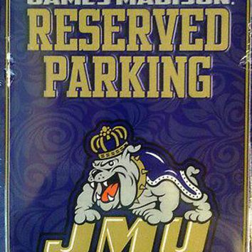 James Madison Dukes JMU METAL Wall Parking Sign University of