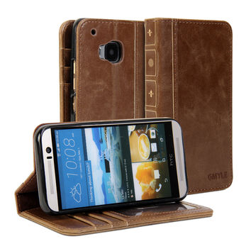 Book Case Vintage for HTC One M9