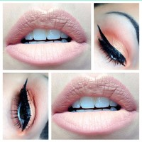 Ombré lips and coral eyes