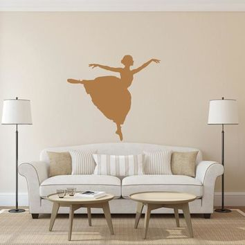 ik1585 Wall Decal Sticker ballerina dance lounge children's bedroom