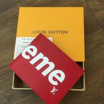 PEAPFN LOUIS VUITTON SUPREME WALLETS WOMEN MEN WALLET PURSE