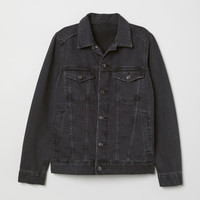Denim Jacket - Black denim - Ladies | H&M US