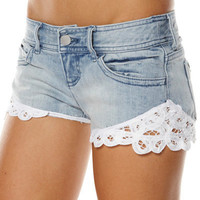 SURFSTITCH - WOMENS - JEANS - SHORTS - BILLABONG ROSKILDE SHORTS - WHITENED WASH