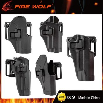 FIRE WOLF Tactical Holster Ipsc Hunting Hand Gun Accessories Airsoft Holsters For Gl 17 19 22 M9 92 Colt 1911 Sig P226 HK USP