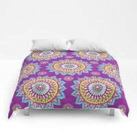 Colorful Mandalas Comforters by Sarah Oelerich