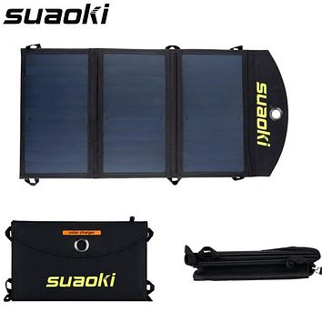 Suaoki Portable 20W Folding Solar Panel Charger | iPhone and Android Compatible