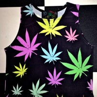 SWEET LORD O'MIGHTY! PASTEL WEED TANK