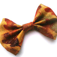 Autumn Leaves Small Hair Bow- Thanksgiving