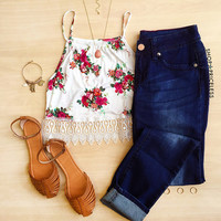 Dainty Floral Crop Top