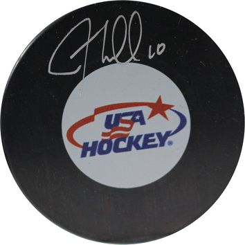 JT Miller Signed USA Hockey Puck